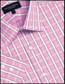 Racing Green Pink check tailored fit formal  longsleeves shirt